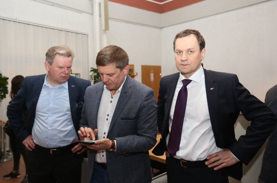 Valdemaras Tomaševskis (d.), Zdzislavas Palevičius ir Jaroslavas Narkevičius