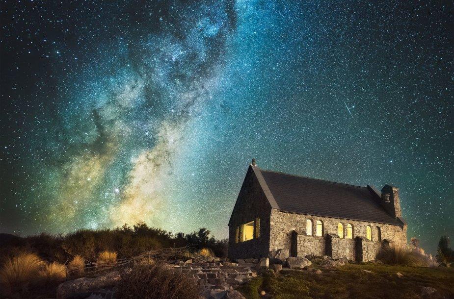 Žvaigždėmis nusėtas Naujosios Zelandijos dangus