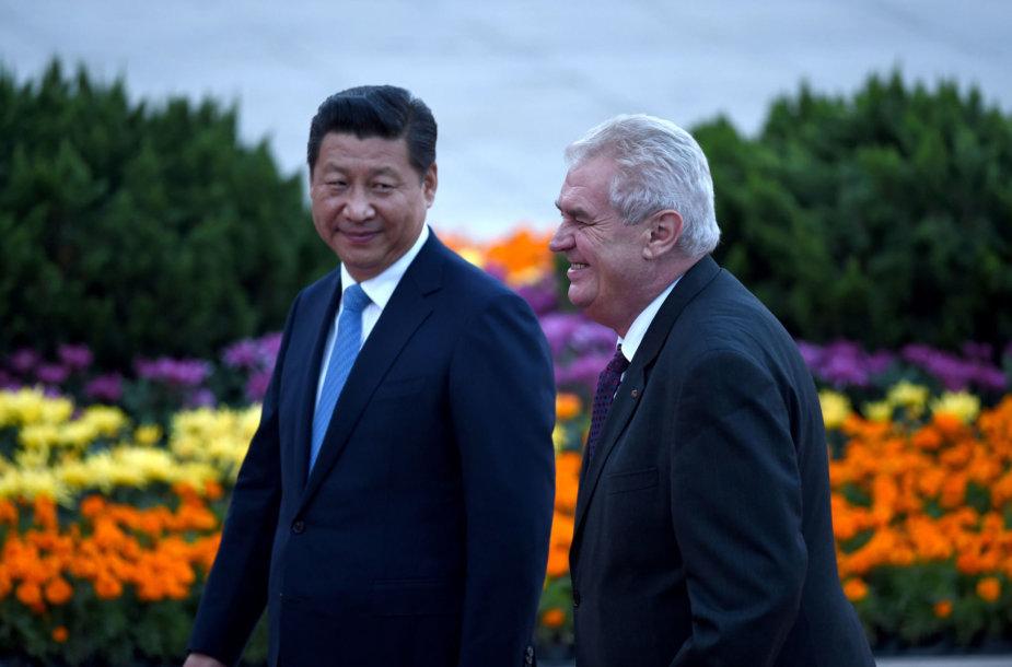 Xi Jinpingas ir Milošas Zemanas