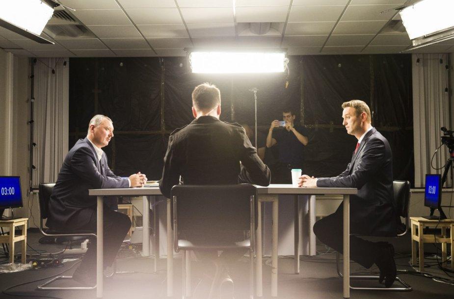 Igoris Girkinas ir Aleksejus Navalnas debatuose