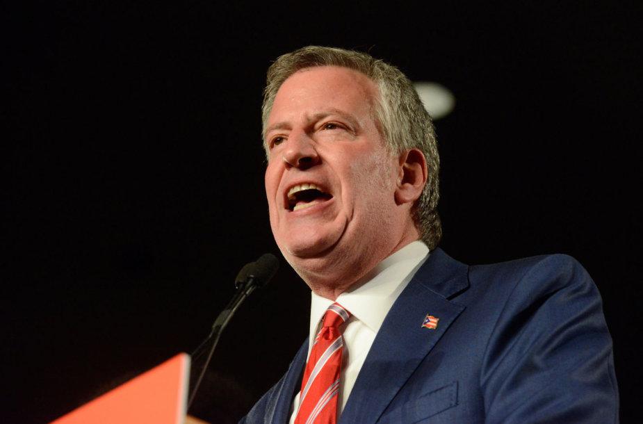 Billas de Blasio perrinktas Niujorko meru