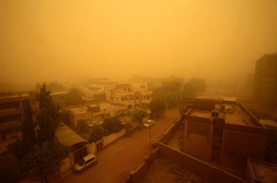 Smėlio audra Sudane