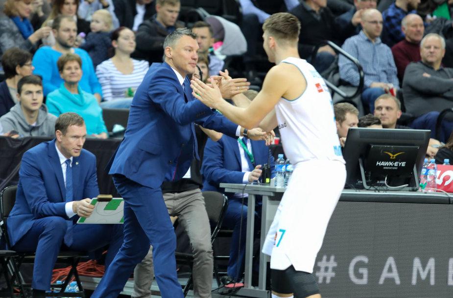 Šarūnas Jasikevičius ir Luka Doncičius