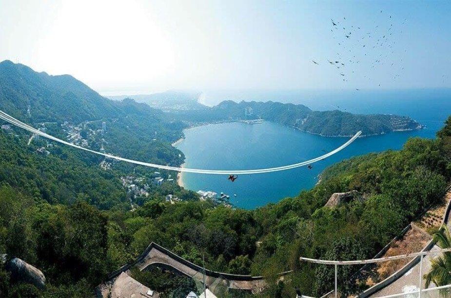 Meksikoje atidaroma ilgiausia zip-line trasa pasaulyje