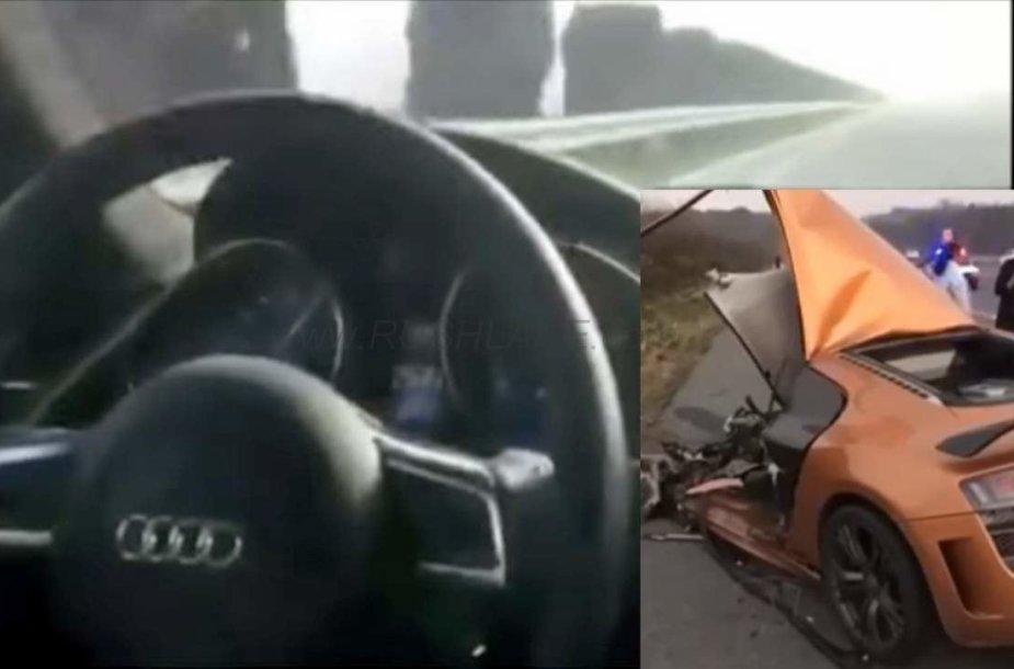 """Audi R8"" avarija Kinijoje"