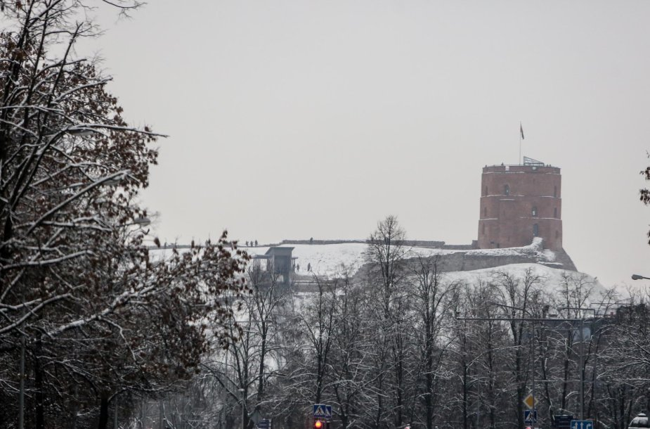 Pirmasis sniegas Vilniuje