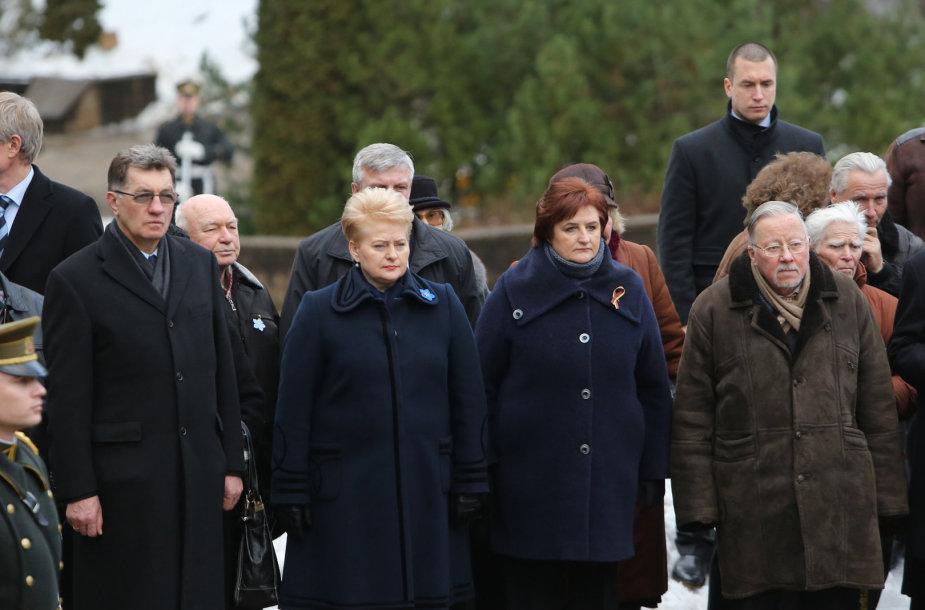 Iš kairės: Algirdas Butkevičius, Dalia Grybauskaitė, Loreta Graužinienė, Vytautas Landsbergis