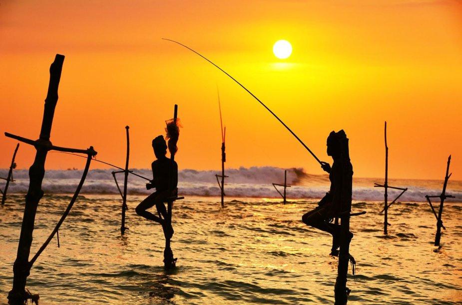 Egzotiški žvejai Šri Lankoje