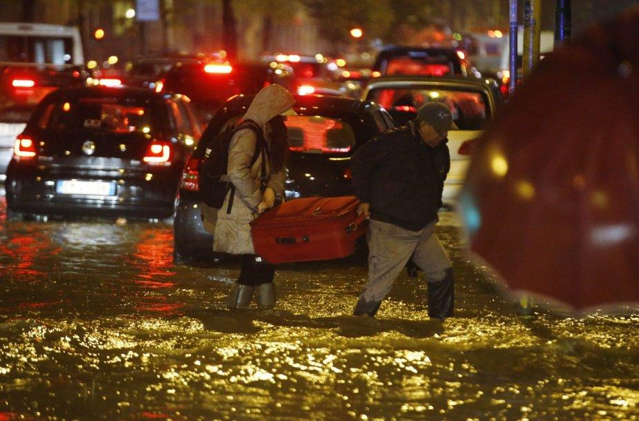 Potvynis Milane