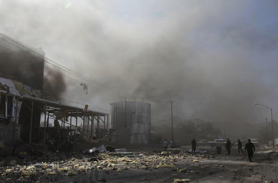 Meksikos saldainių fabrike įvyko sprogimas.
