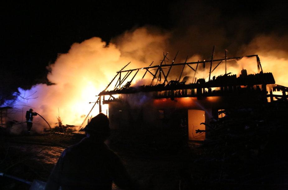 Gaisro metu sudegė daržinė, ūkinio pastato stogas, apie 20 tonų šieno, keli kubiniai metrai medienos, grūdų atsargos, ūkininkų inventorius.