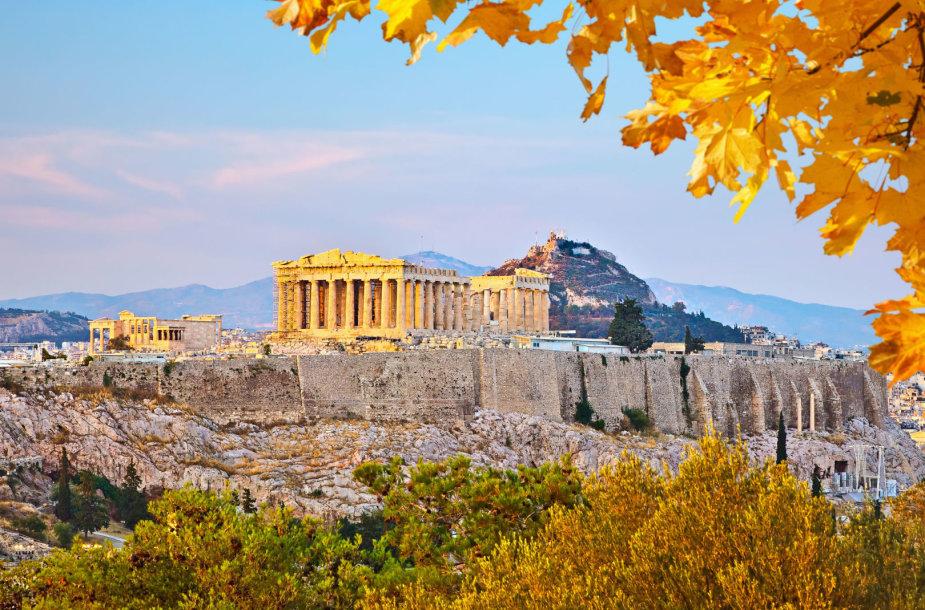 Vaizdas į Akropolį Atėnuose