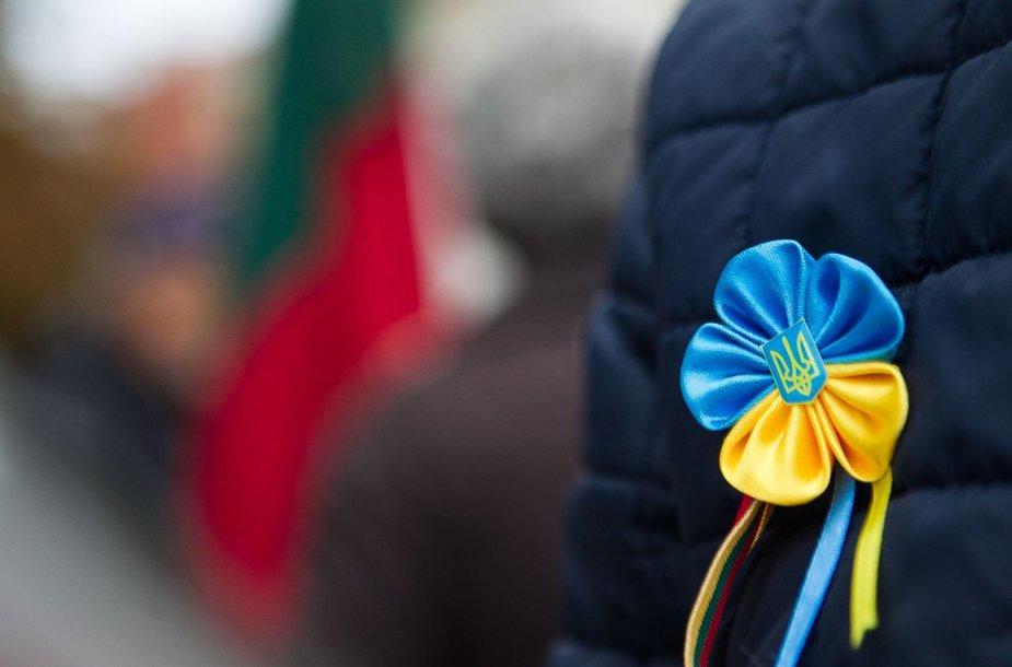 Lietuviai eitynėse išreiškė paramą Ukrainai