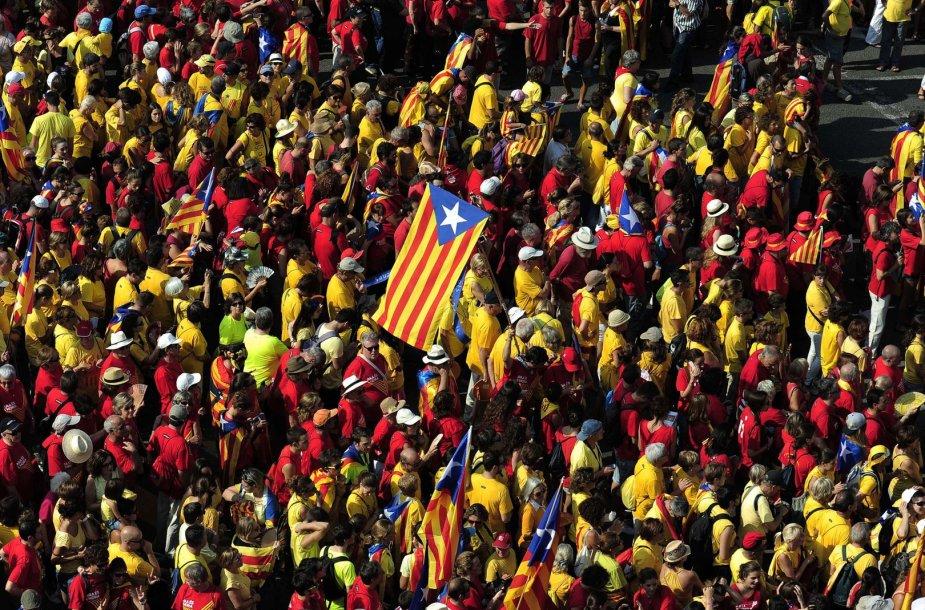 Nacionalinė Katalonijos dienos minėjimas Barselonoje