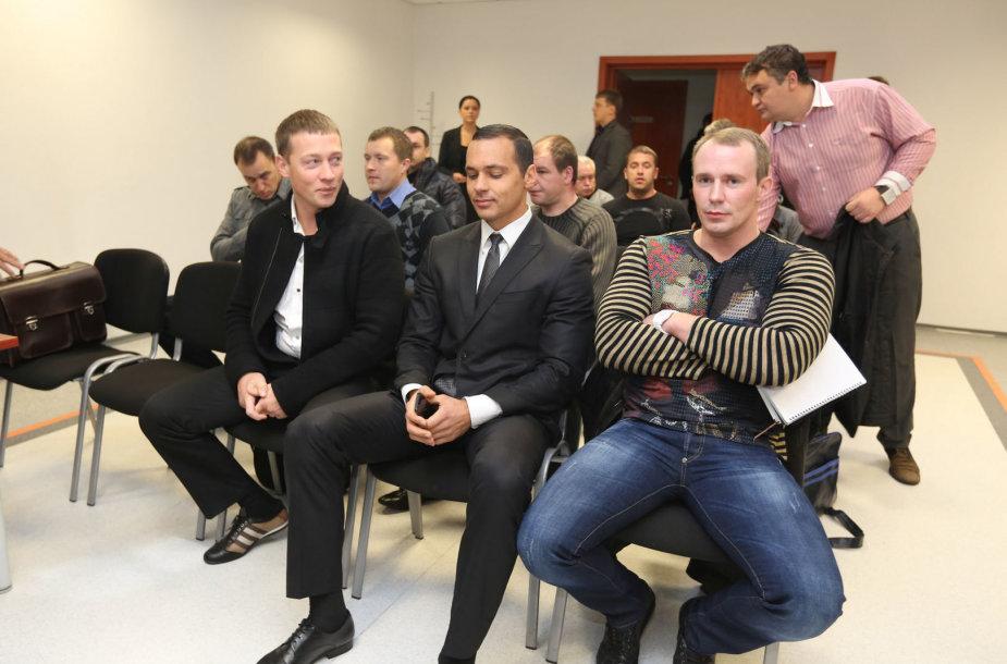 Iš kairės: Markas Borisniovas, Andrejus Daščenka, Maksimas Chaninas