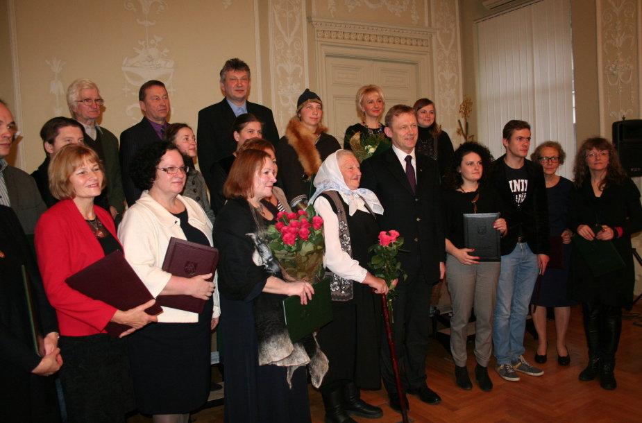 Kultūros ministerijos premijų įteikimas