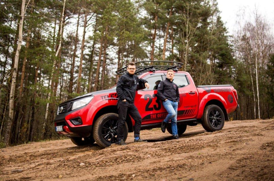 Į Dakaro ralio smėlynus lietuvių – Andriaus Lauciaus (kairėje) ir Mindaugo Plukio – duetas leisis nuosavu automobiliu