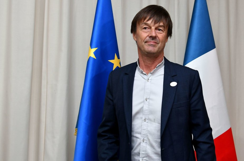 Prancūzijos  aplinkos ministras Nicolas Hulot