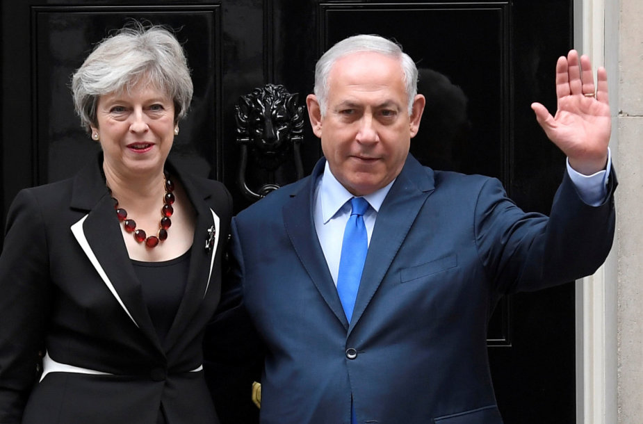 Theresa May ir Benjaminas Netanyahu