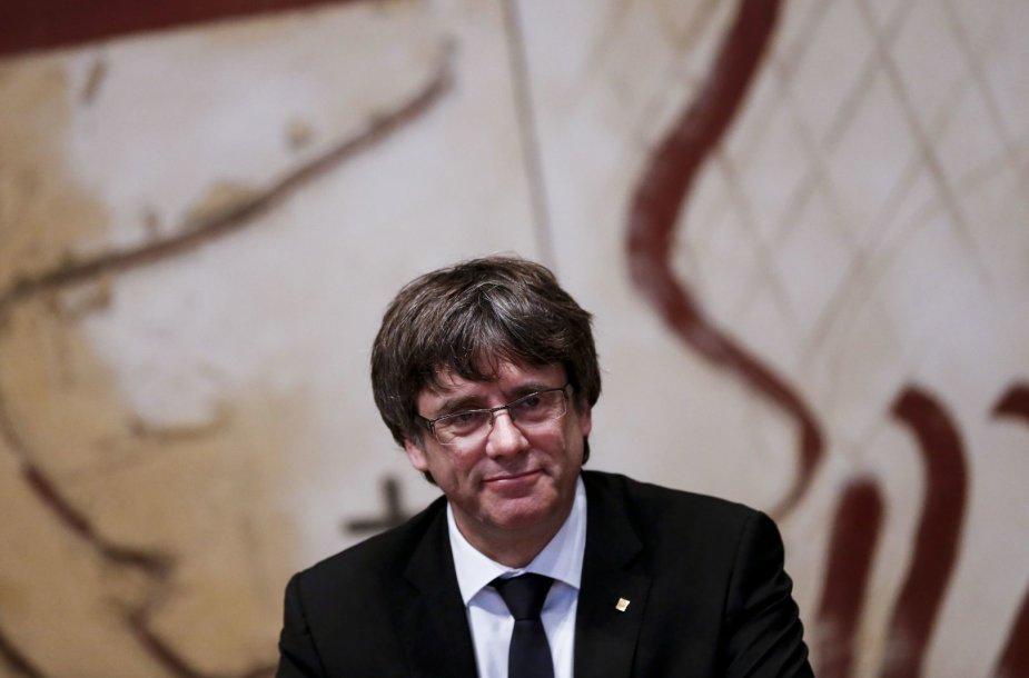 Katalonijos vadovas Carlesas Puigdemontas