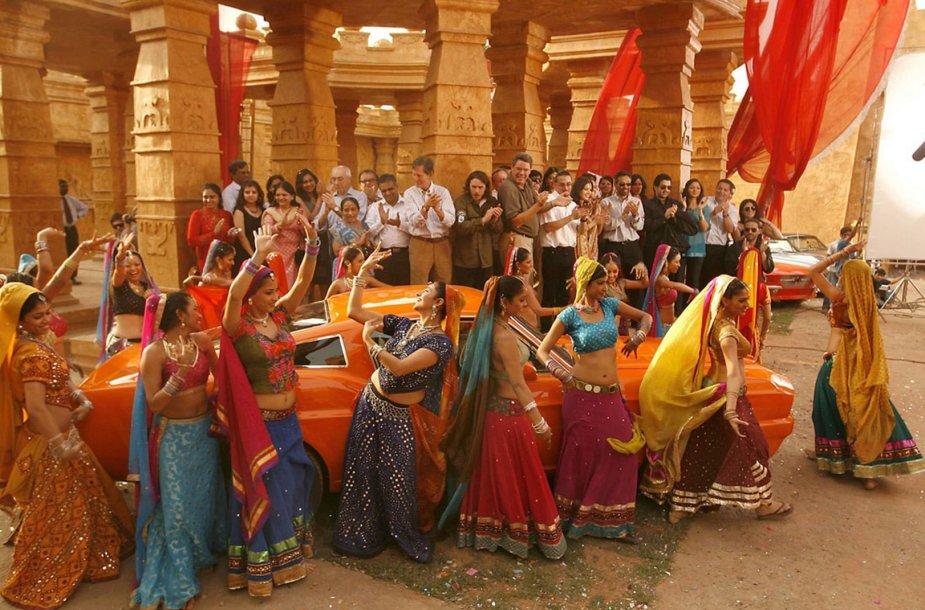 Turistai Bolivudo studijoje gali iš arti matyti, kaip kuriami indų filmai