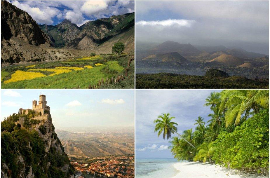 Mažiausiai turistų lankomos šalys
