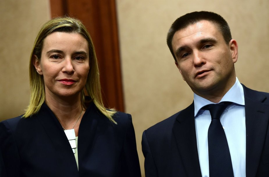 Federica Mogherini ir Pavlo Klimkinas