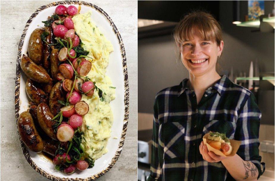 Tinklaraštininkė Laura ir jos gamintas patiekalas