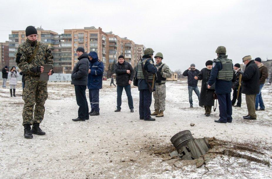 Raketomis apšaudytas Kramatorsko miestas
