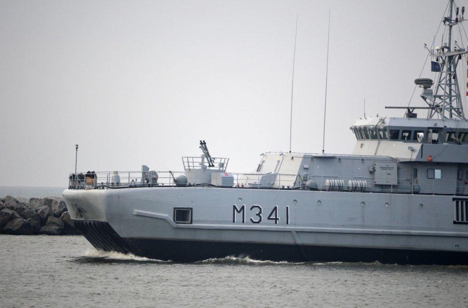 Sekmadienį į Klaipėdos uostą atplaukė Lietuvos karininko vadovaujamas NATO nuolatinės parengties priešmininių laivų 1-os grupės junginys