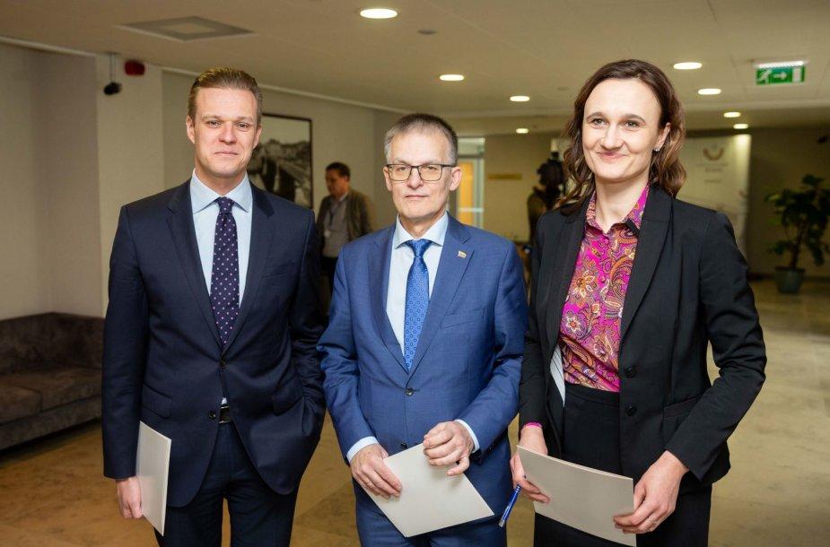 Gabrielius Landsbergis, Julius Sabatauskas, Viktorija Čmilytė-Nielsen