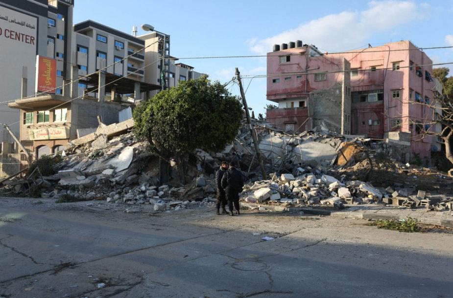 Gazos Ruožas po Izraelio aviacijos smūgių