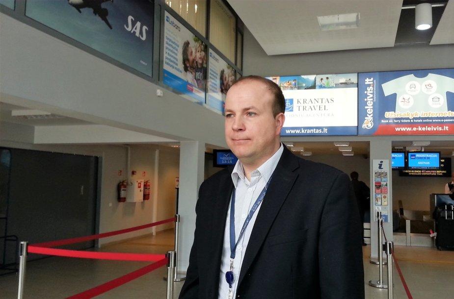 Palangos oro uosto vadovas Marius Gelžinis.