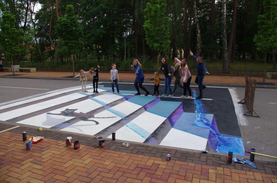 Alytuje surengtas tarptautinis gatvės meno pleneras