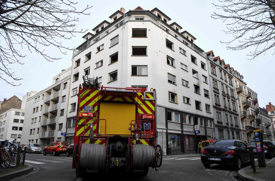 Strasbūre per gaisrą daugiabutyje žuvo penki žmonės