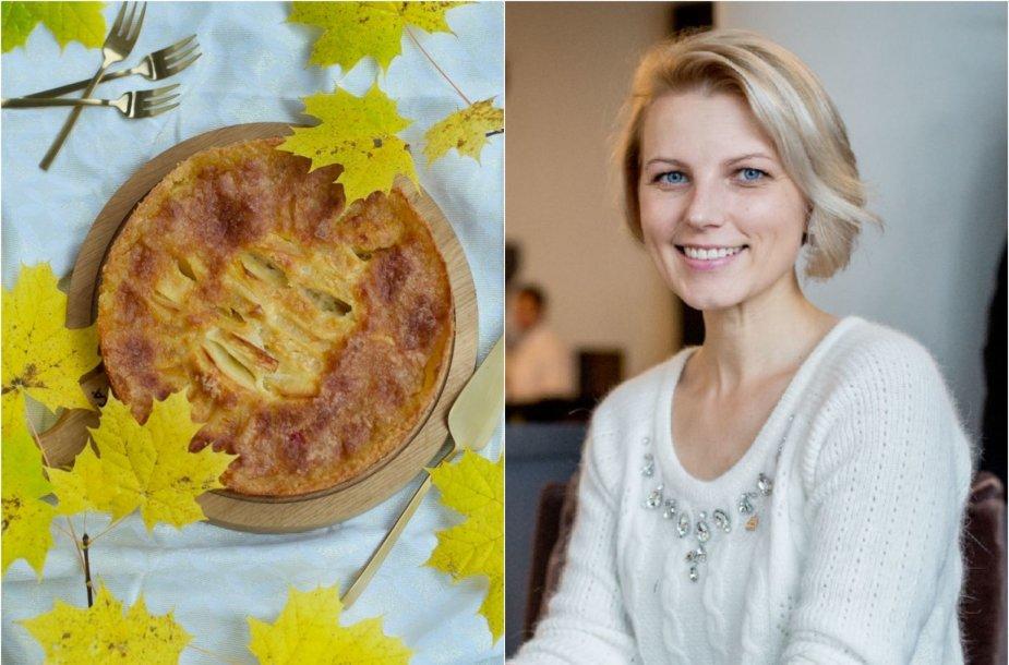 Dangira Šimašiutė ir jos keptas obuolių pyragas