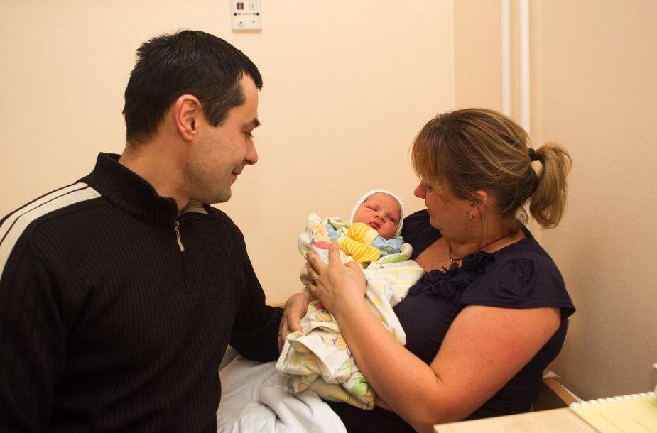 Vilniaus gimdymo namuose sausio 1-ąją gimę kūdikiai.