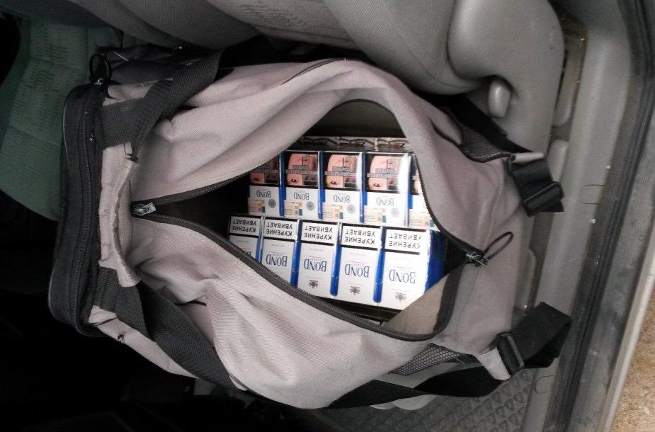 Kaune – nelegali prekyba cigaretėmis