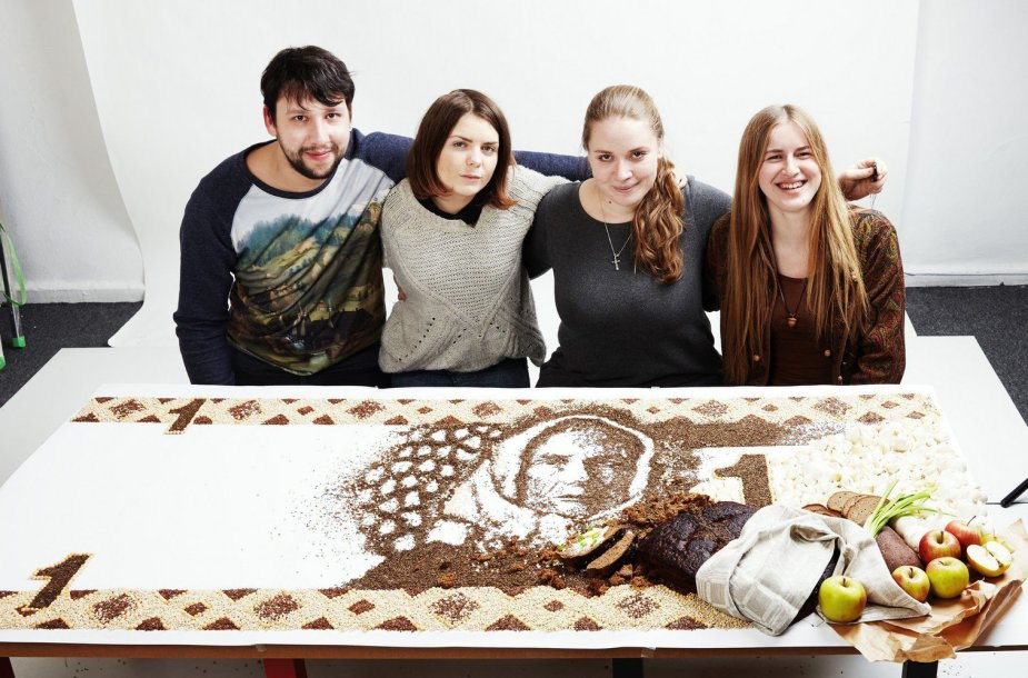 Menininkė Jolita Vaitkutė su draugais iš maisto produktų sukūrė litą