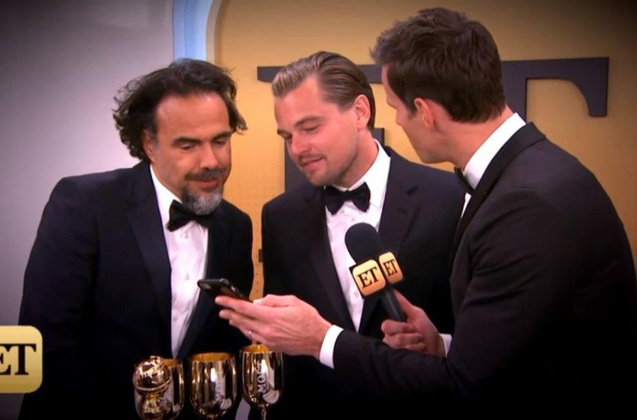 Alejandro Gonzalezas Inarritu ir Leonardo DiCaprio