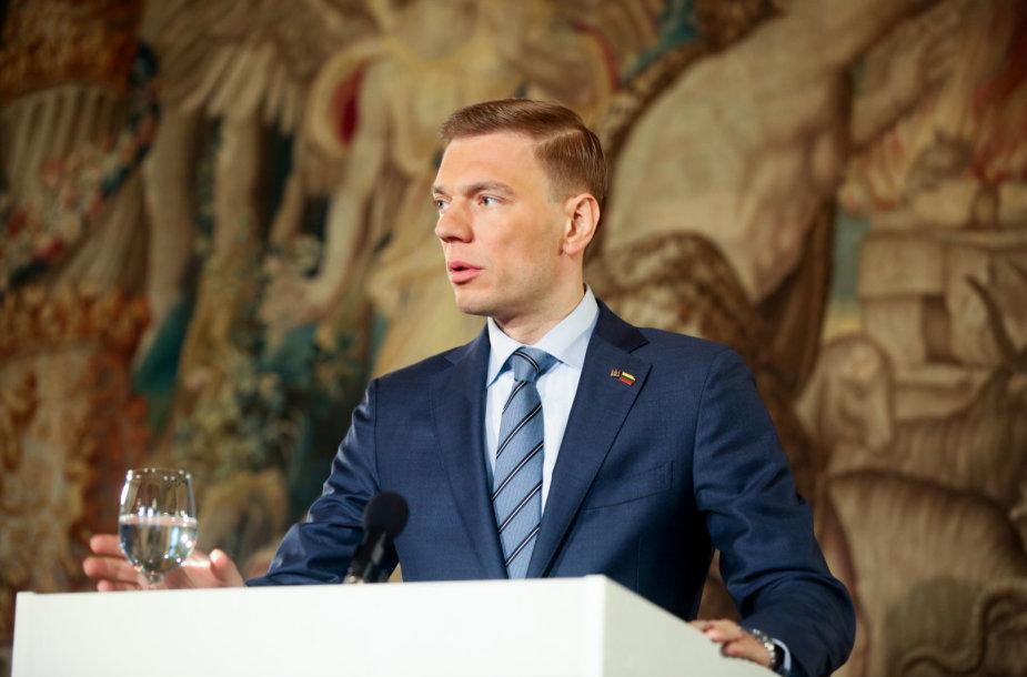 Mindaugas Puidokas BNS spaudos konferencijoje