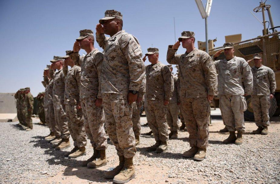 JAV jūrų pėstininkai Afganistane