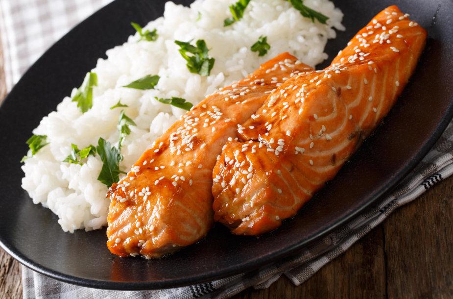 Lašiša su ryžiais