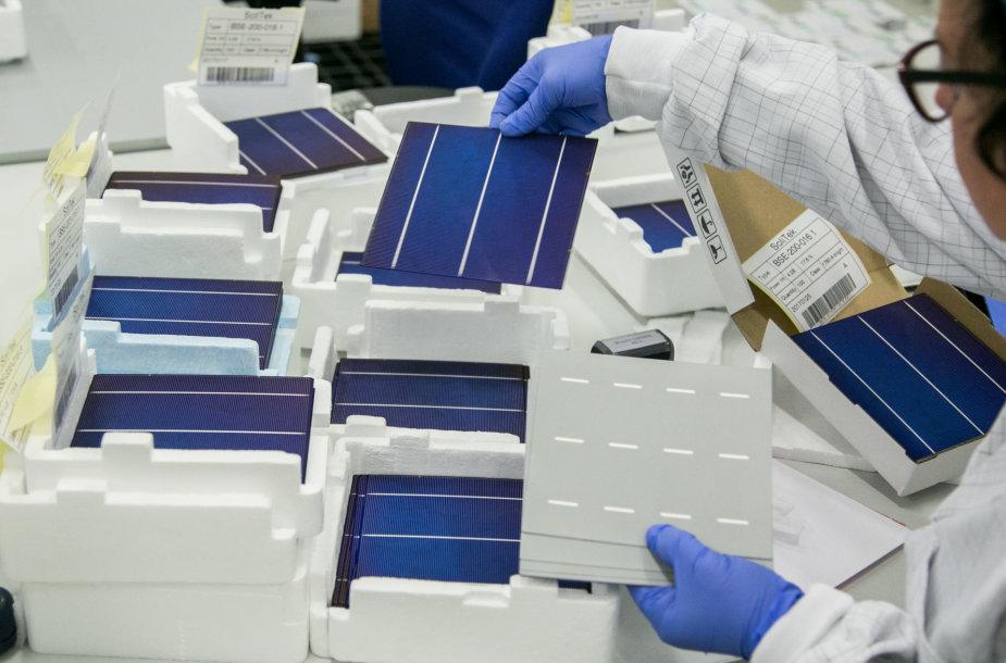 """""""Soli Tek cells"""" saulės modulių gamybos linija"""