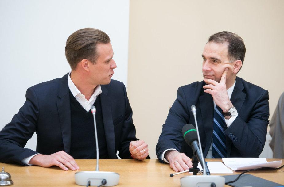 Gabrielius Landsbergis ir Rokas Masiulis