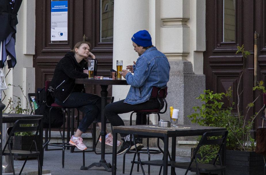 Penktadienio vakaras Vilniaus gatvėse