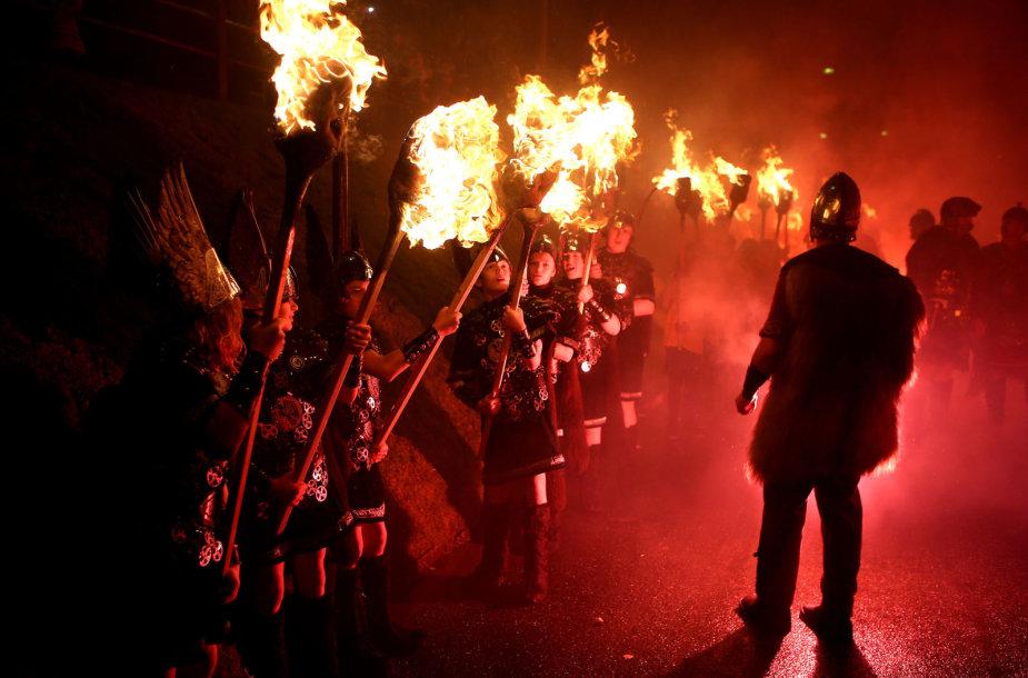 Vikingų festivalis Šetlando salose