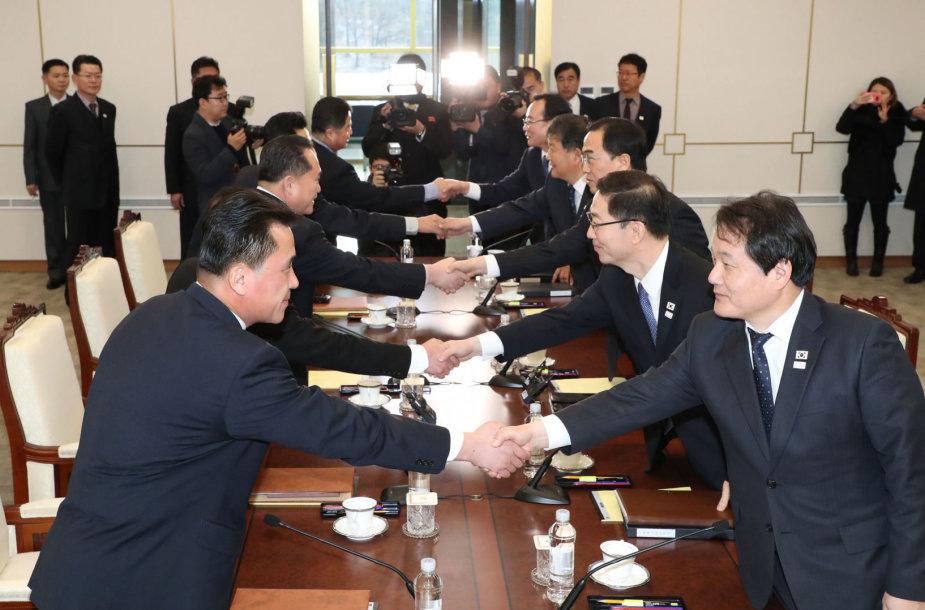Šiaurės Korėjos ir Pietų Korėjos delegacijų susitikimas