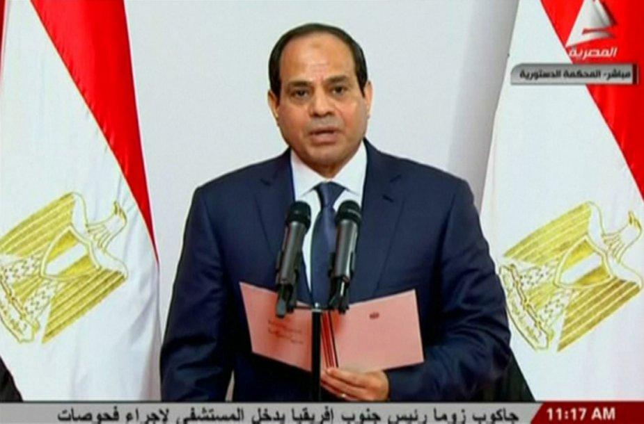 Abdel Fattahas al Sisi prisaikdintas Egipto prezidentu.