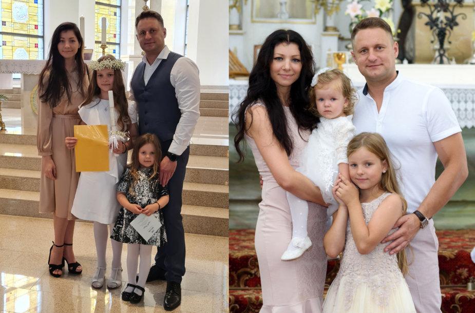 Andriaus Rimiškio dukra Lėja, žmona Vaida ir mažoji Andrėja